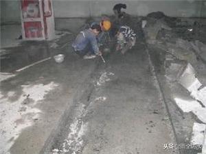 LOCA防水卷材湿铺施工节点—后浇带