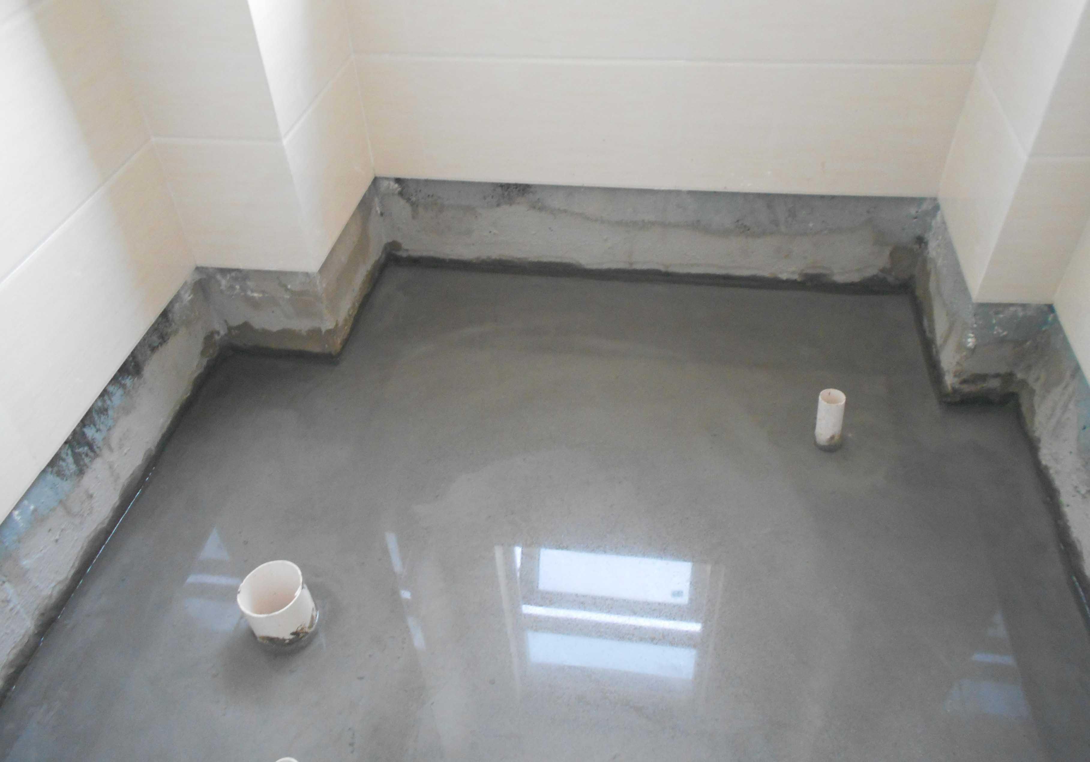 LOCA防水卷材湿铺施工节点—地下室底板与外墙交角