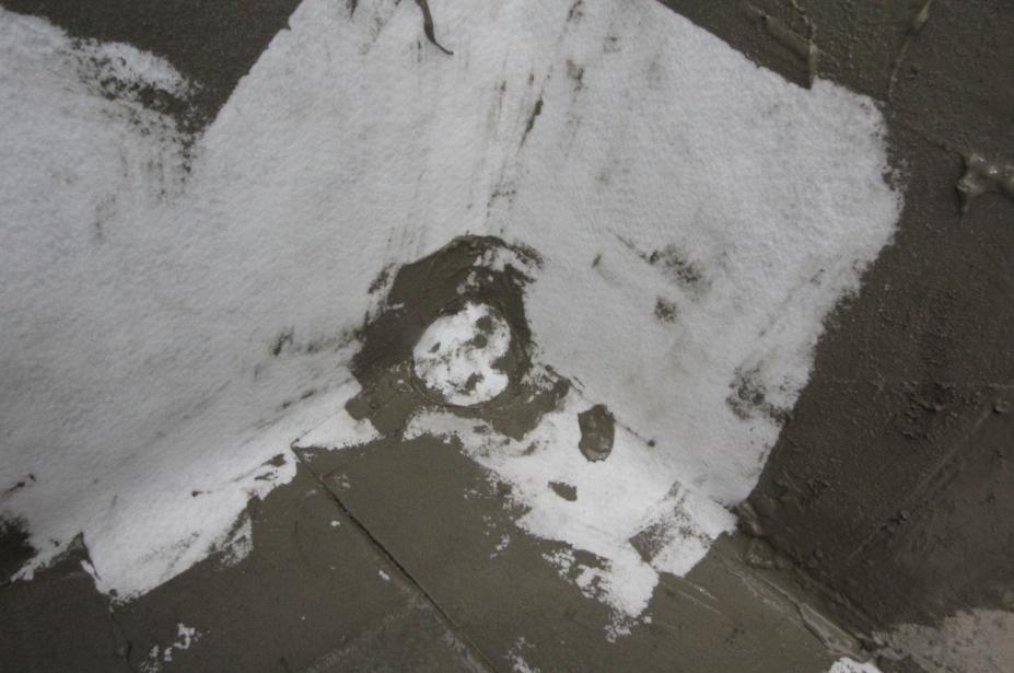 LOCA防水卷材湿铺施工节点—阴角做法
