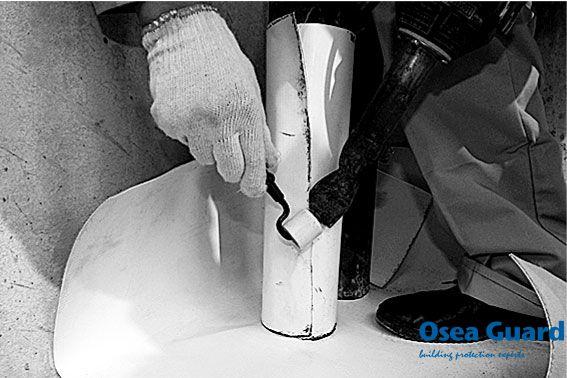 PVC/TPO/ZPV防水卷材施工节点—管根